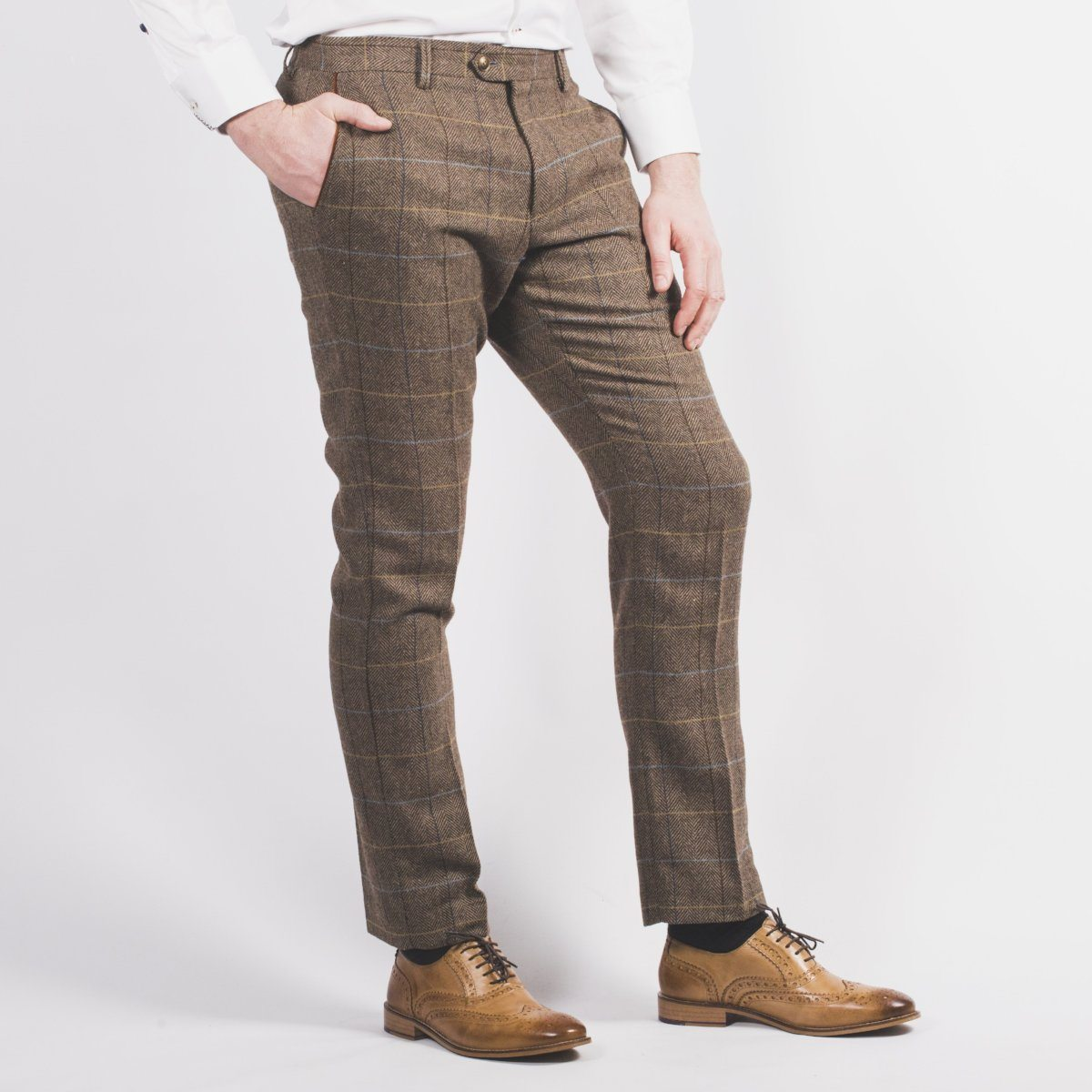 Arthur Brown Tweed Trouser - Leonard Silver