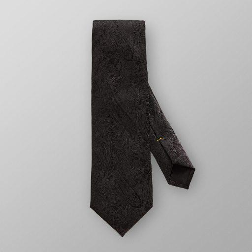 Black Paisley Self Pattern Tie