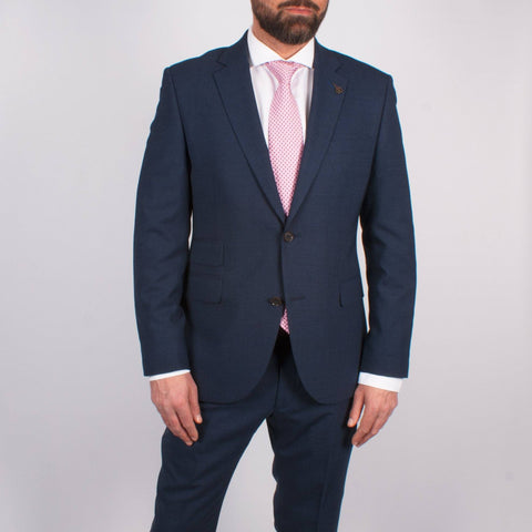 Blue Flannel 2 Piece Suit - Leonard Silver
