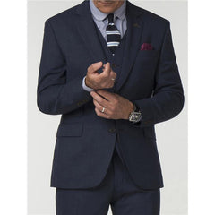 Blue Flannel Suit - Leonard Silver