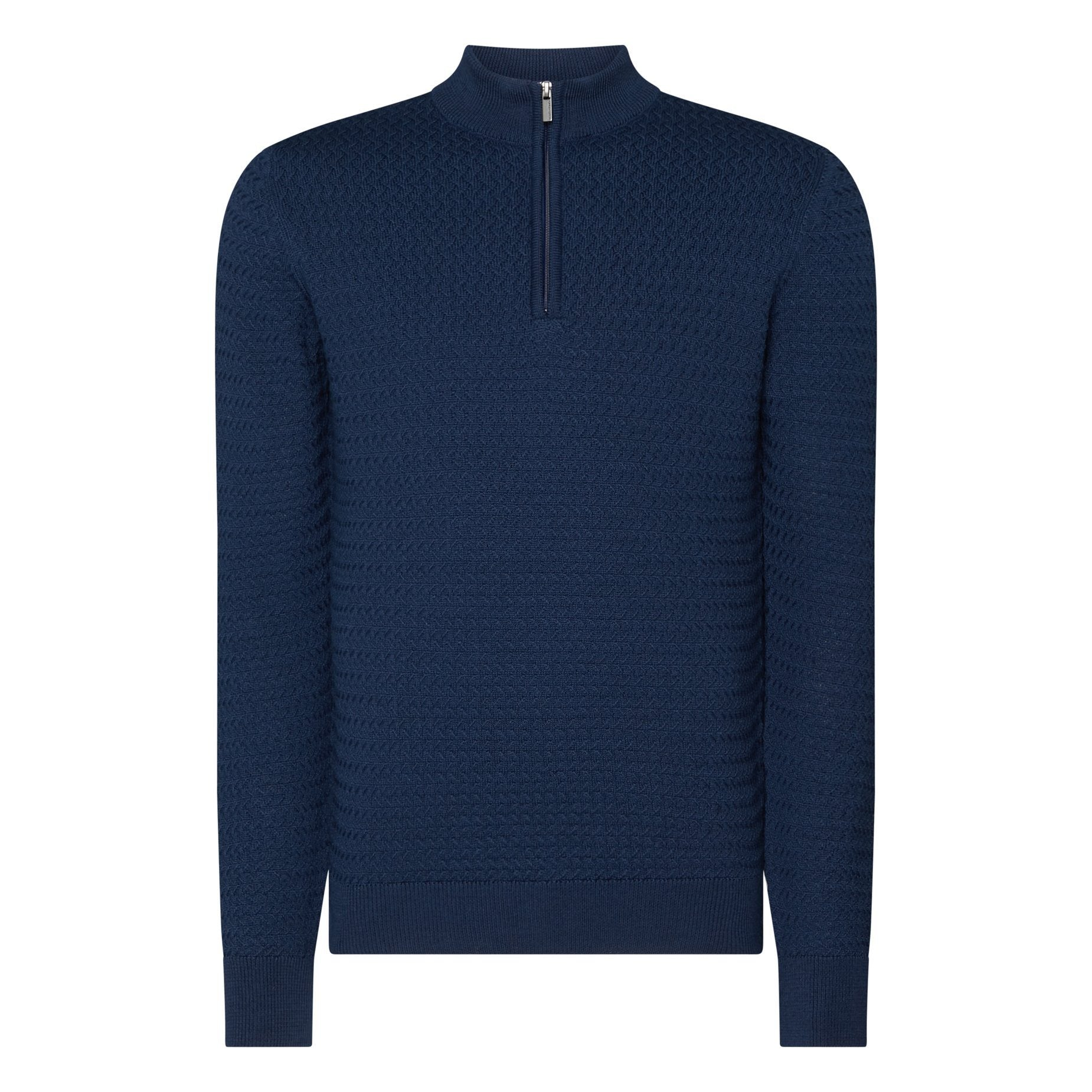 Blue Half Zip Sweater
