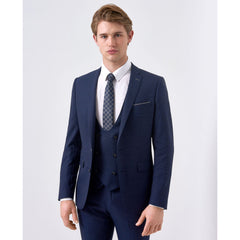 Blue Mini Check Suit
