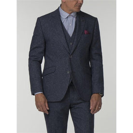 Blue Wool/Silk Tweed Suit - Leonard Silver