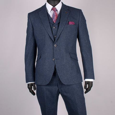 Wool/Silk Tweed Suit - Leonard Silver