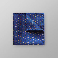 Blue-Floral Pattern Pocket Square