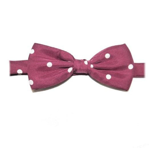 red polka dot silk bow tie