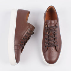 Lacuzzo Brown Leather Sneaker - Leonard Silver