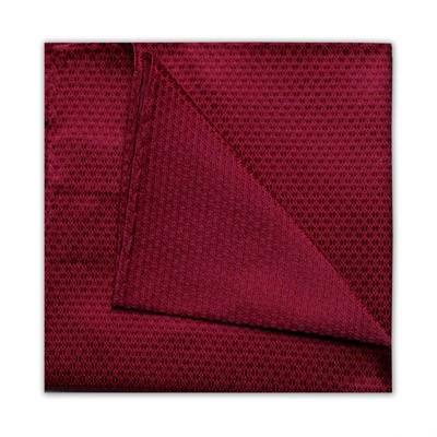 Burgundy Pocket Square - Leonard Silver