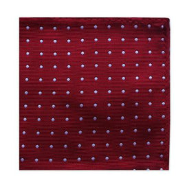Burgundy Dotted Square - Leonard Silver
