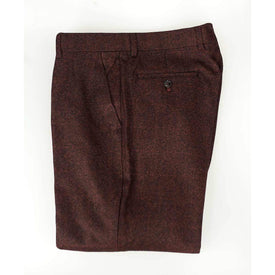 Burgundy Tweed Trousers - Leonard Silver