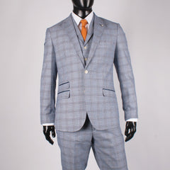 Multi Check 3 Piece Suit