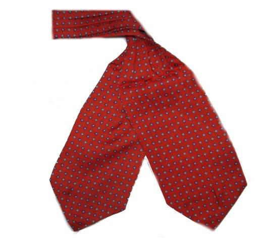Red Small Diamonds Silk Cravat