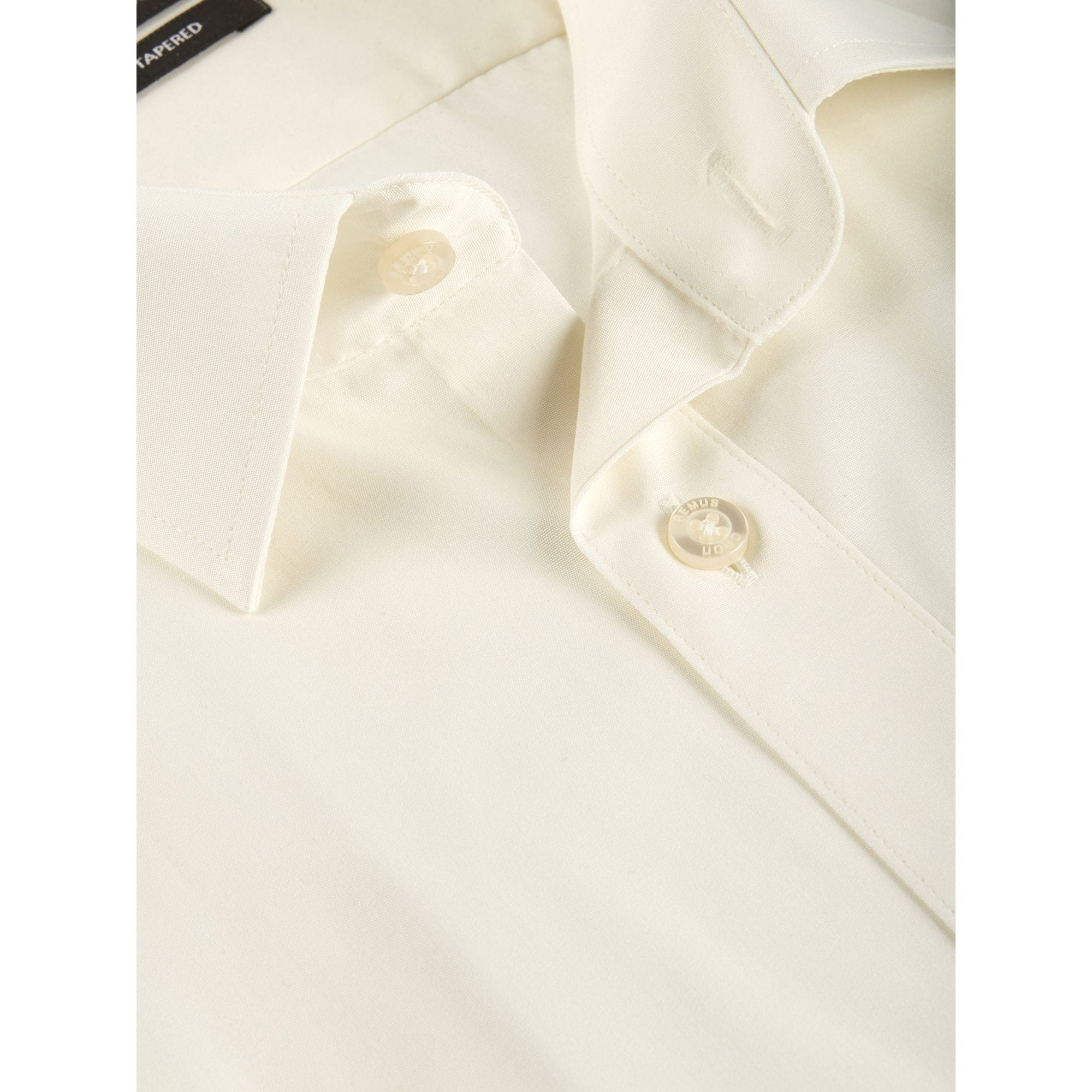 Cream Double Cuff Shirt