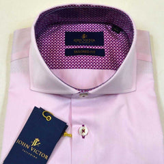 John Victor Tailored Fit Shirt Pink