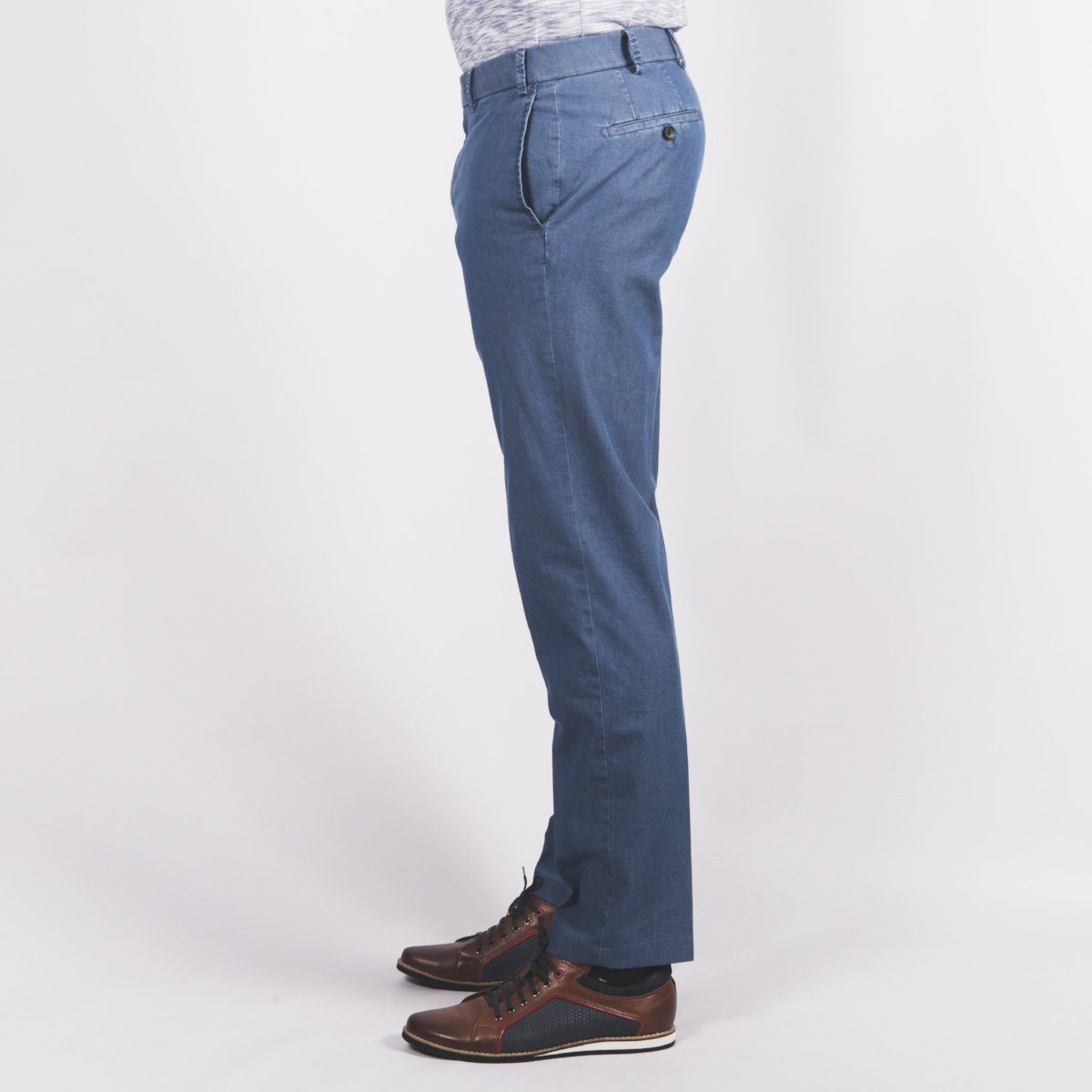 Light Denim Chino - Leonard Silver