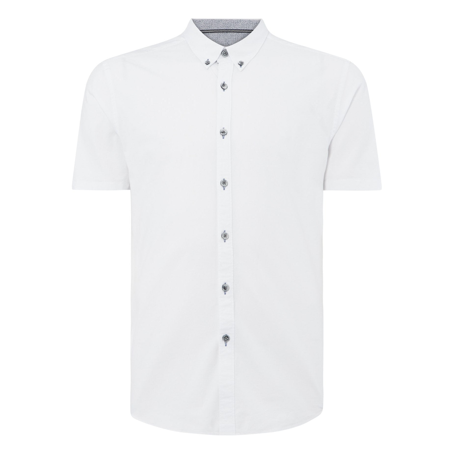 Dino Short Sleeve Shirt White - Leonard Silver
