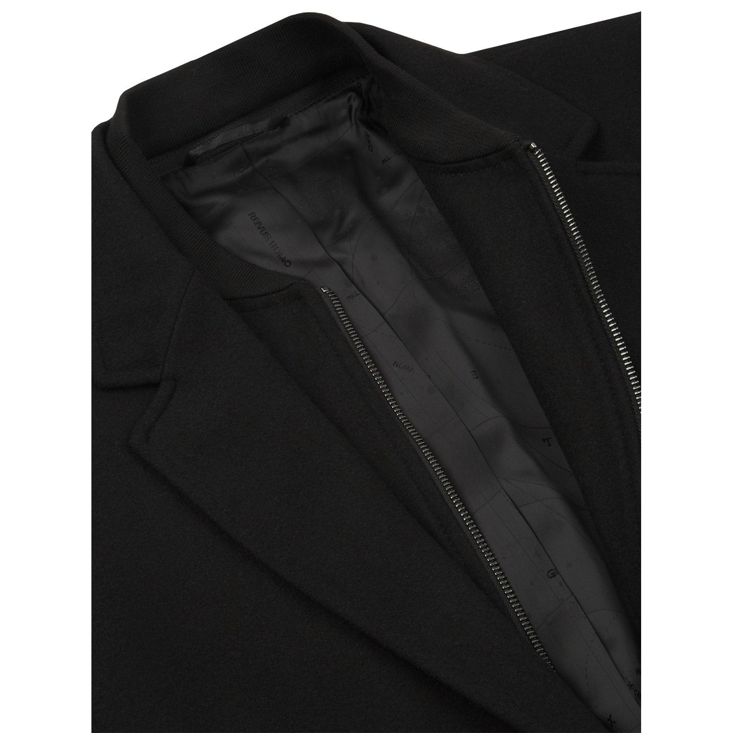 Black Tailored Coat - Leonard Silver