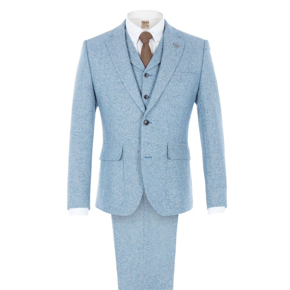 Slim Fit Blue Donegal Tweed Suit | Order quality ready-to-wear suits ...