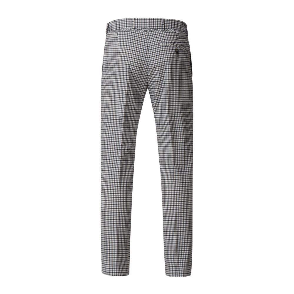 Gingham Check Suit in Grey - Leonard Silver