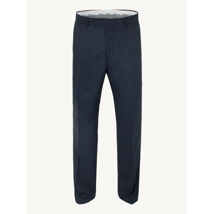 Navy Slim Fit Suit Trousers - Leonard Silver