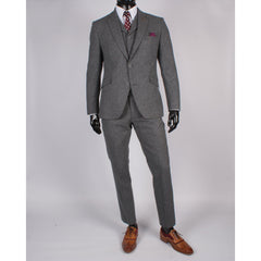 Grey Wool/Silk Tweed Trouser