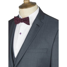 Gibson Slim Fit Slate Blue Suit - Leonard Silver