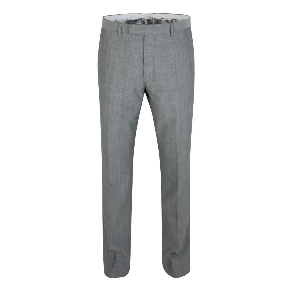 Gibson Regular Fit Grey Trousers - Leonard Silver