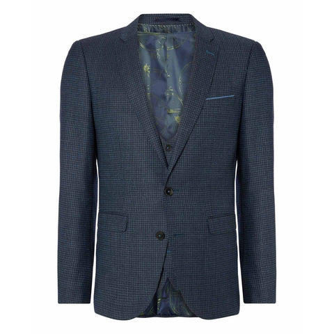 Houndstooth X-Slim Fit Suit - Leonard Silver