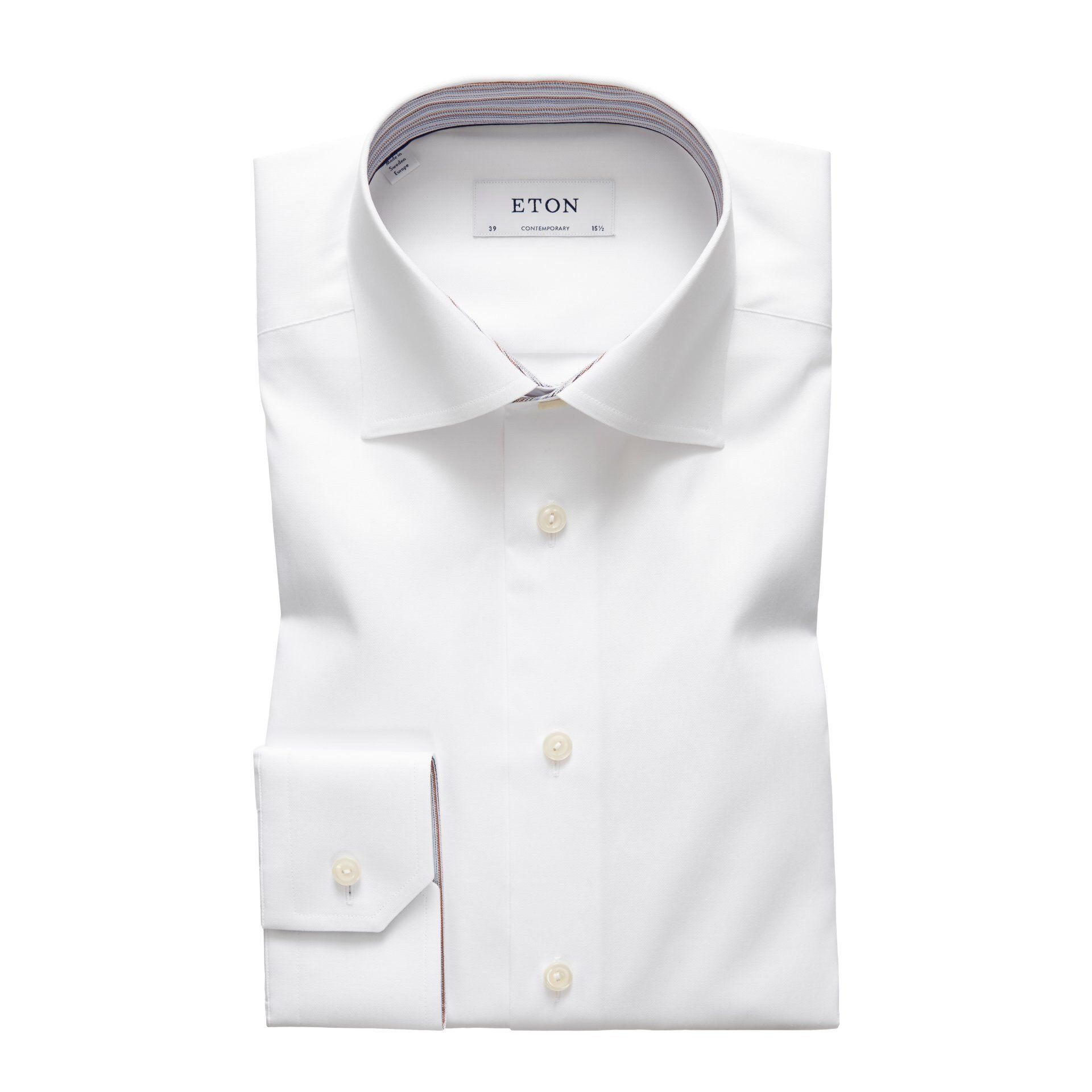 White Twill Shirt – Striped Details