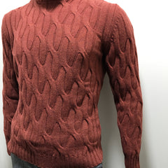Burnt Orange Chunky Sweater