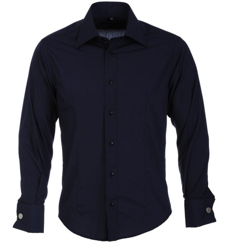 NAVY Classic Double Cuff Shirt