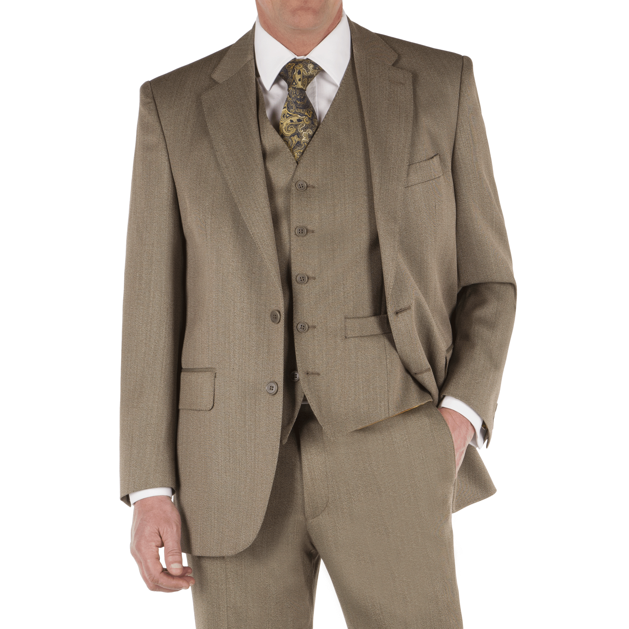 taupe 3 piece suit