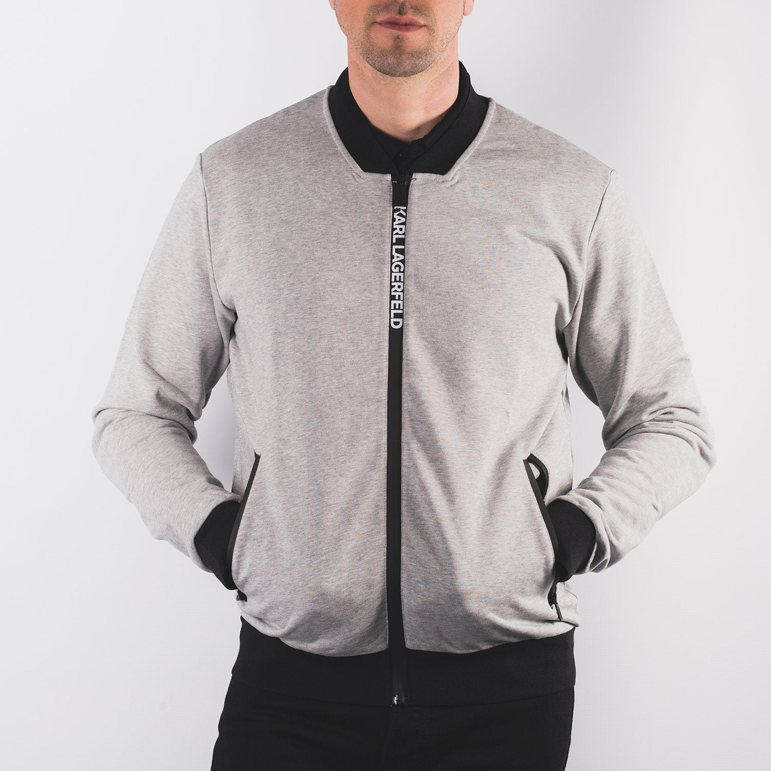 Karl Lagerfeld Sweat Jacket - Leonard Silver