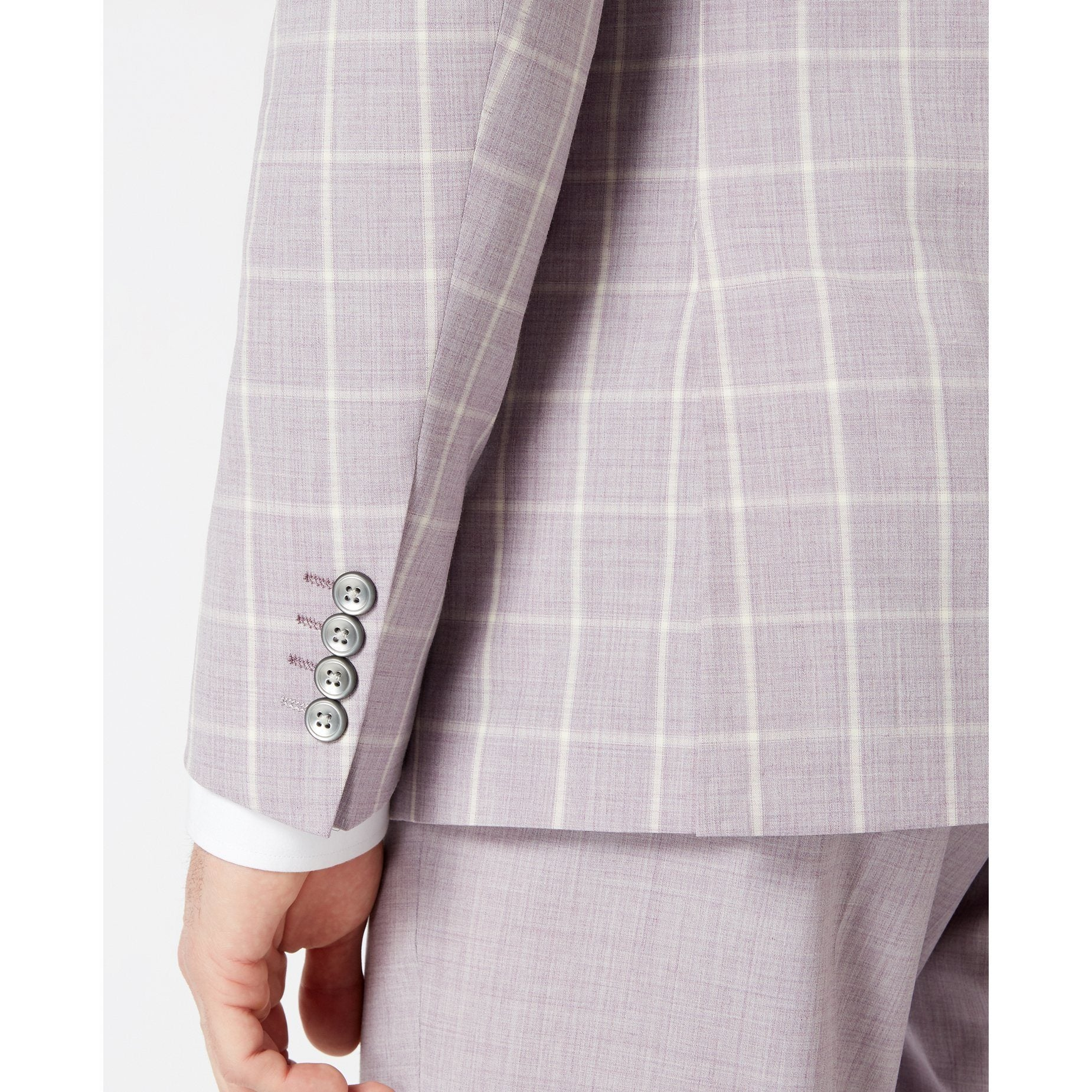 Lilac Check Suit - Leonard Silver