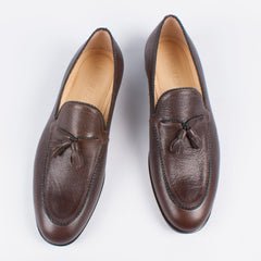 Brown Tassle Loafer - Leonard Silver