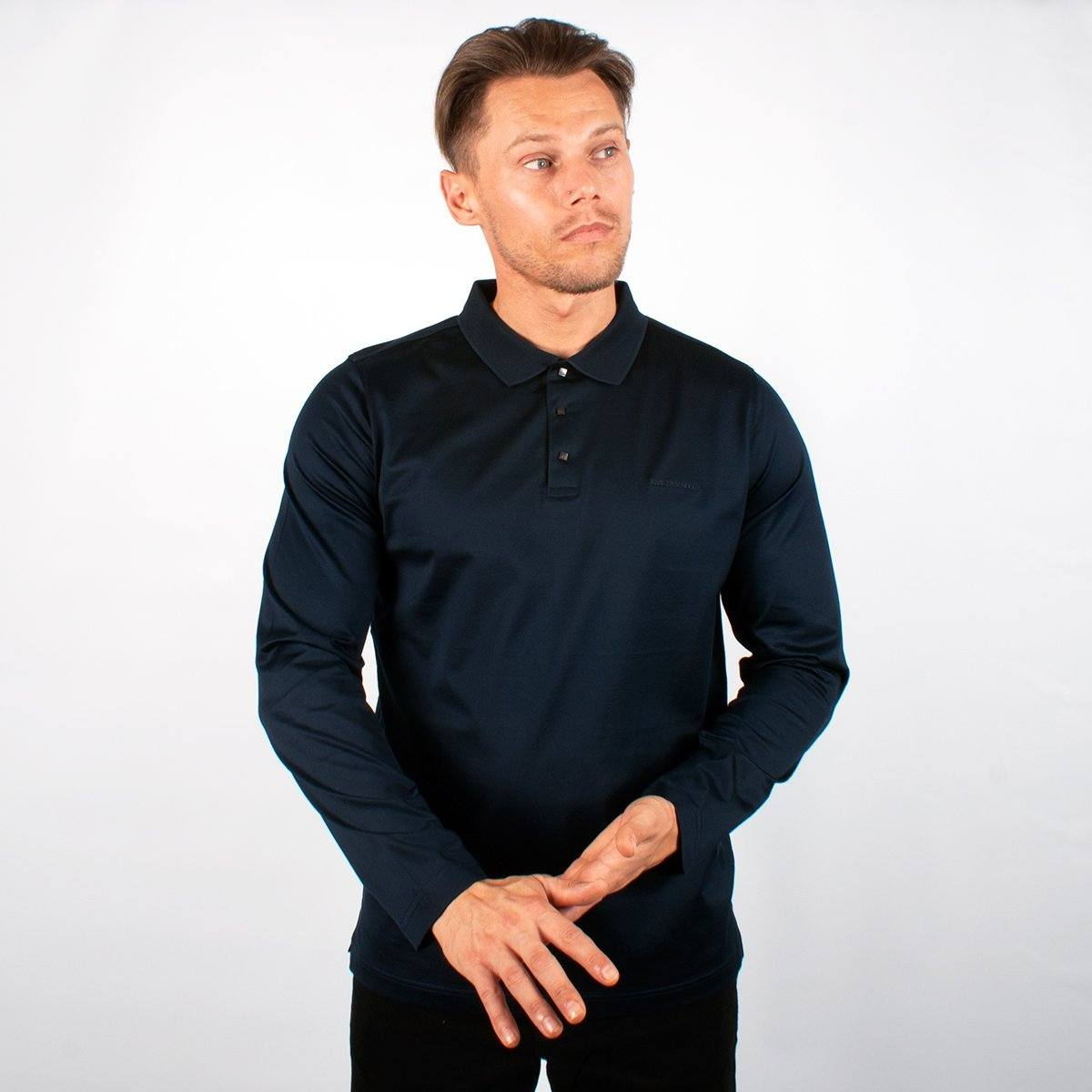 Long Sleeve Jersey Navy - Leonard Silver