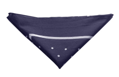 Navy/white Polka dot Neckerchief - Leonard Silver