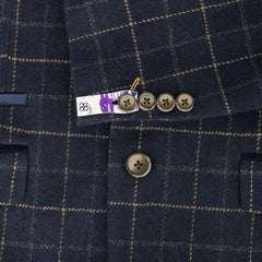 Multi Check Navy Tweed Suit