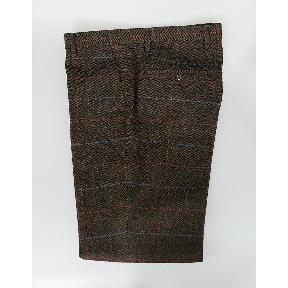 Multi Colour Check Tweed Trousers
