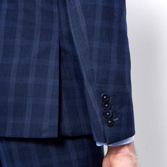 Navy Check Suit