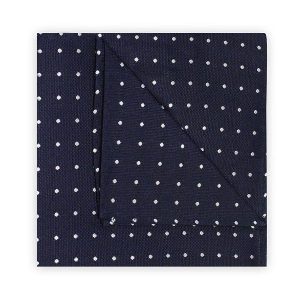 Navy Dotted Square
