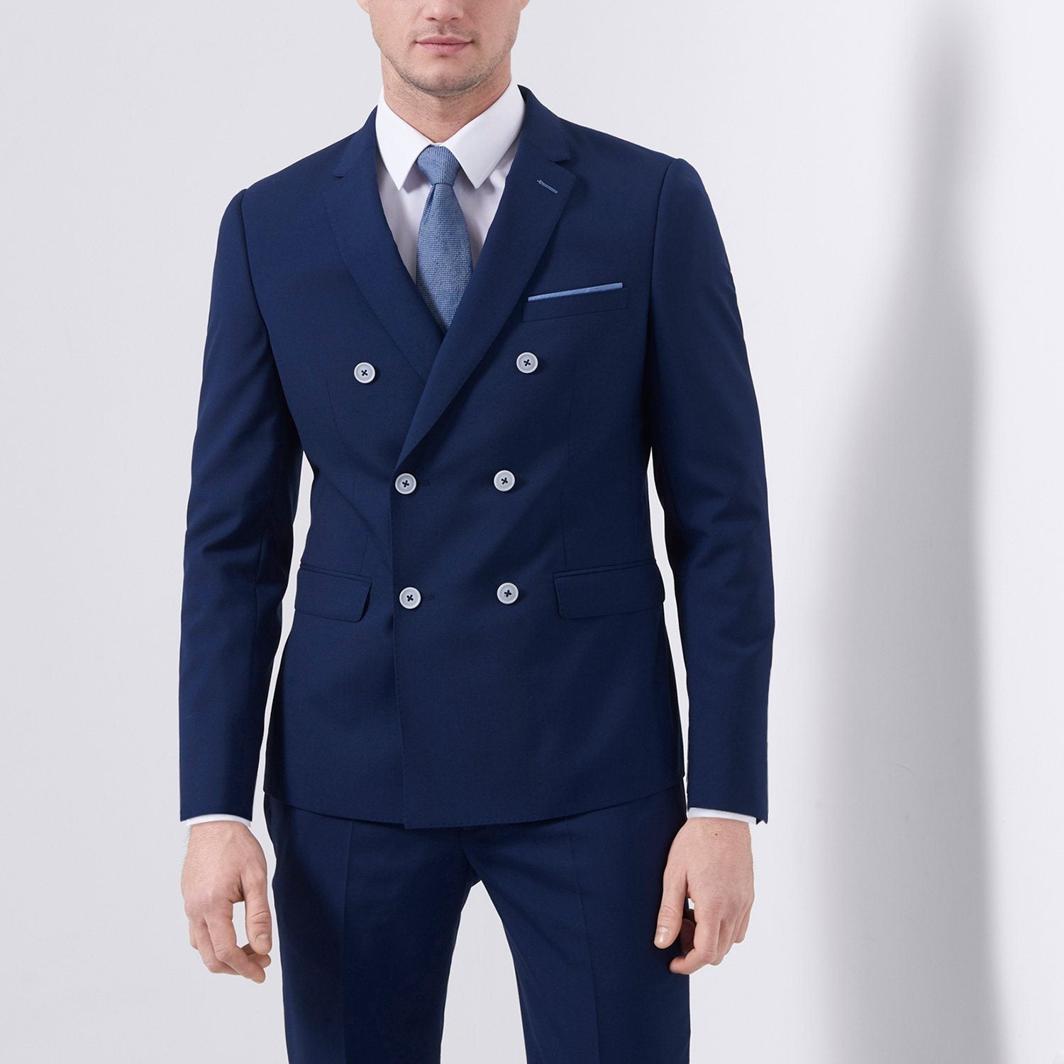 Wool Rich Double Breasted Suit