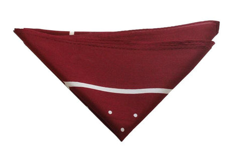 Burgundy/White Polka Dot Neckerchief - Leonard Silver