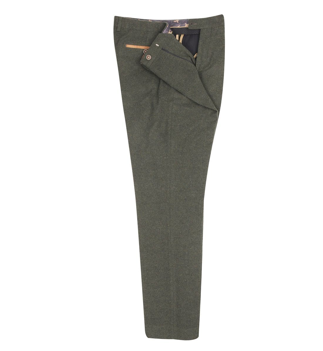 Olive Tweed Suit Trousers - Leonard Silver