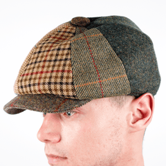 Tweed Patchwork Hat