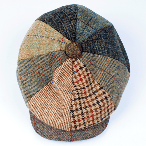 Tweed Patchwork Hat - Leonard Silver