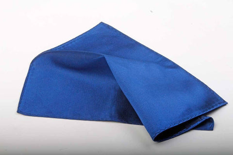Plain Silk Pocket Squares - Leonard Silver