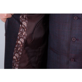 Plum Slim Fit Suit - Leonard Silver