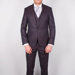 Plum Slim Fit Suit