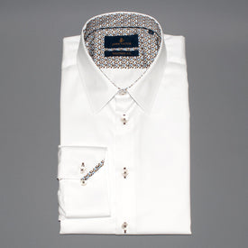John Victor Tailored Fit Shirt White - Leonard Silver